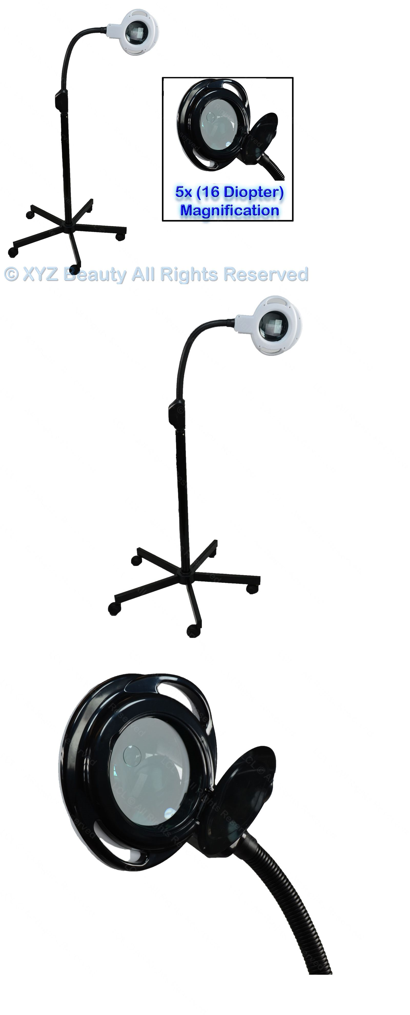 Magnifying Lamps: (5X) Magnification (16) Diopter Black Mag Lamp ...