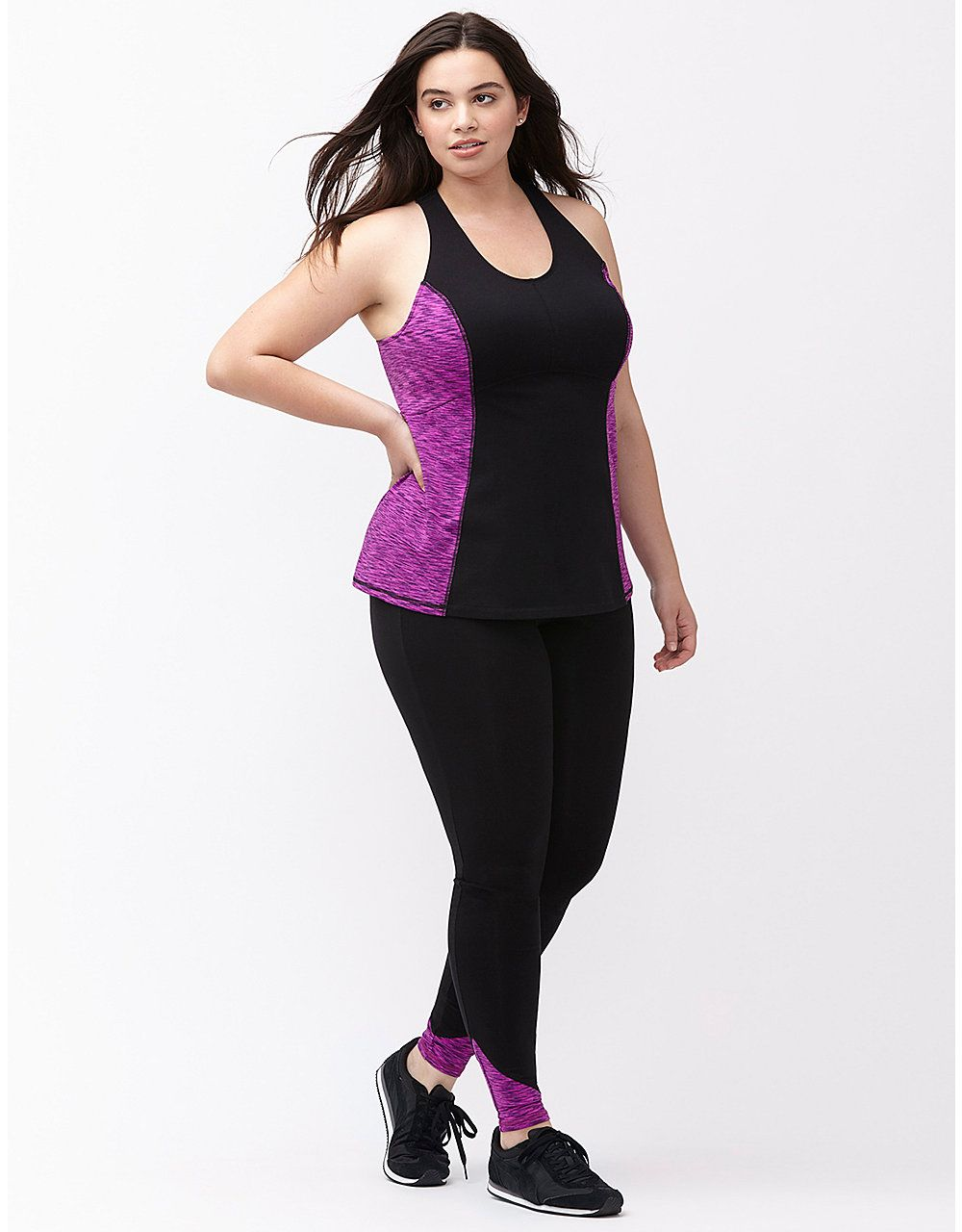 28c3c4f98f Wicking space dye active tank by Livi Active | Lane Bryant ...
