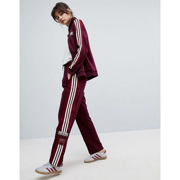 Beroemd adidas Originals Adibreak Popper Track Pants In Maroon (112 CAD  MP86