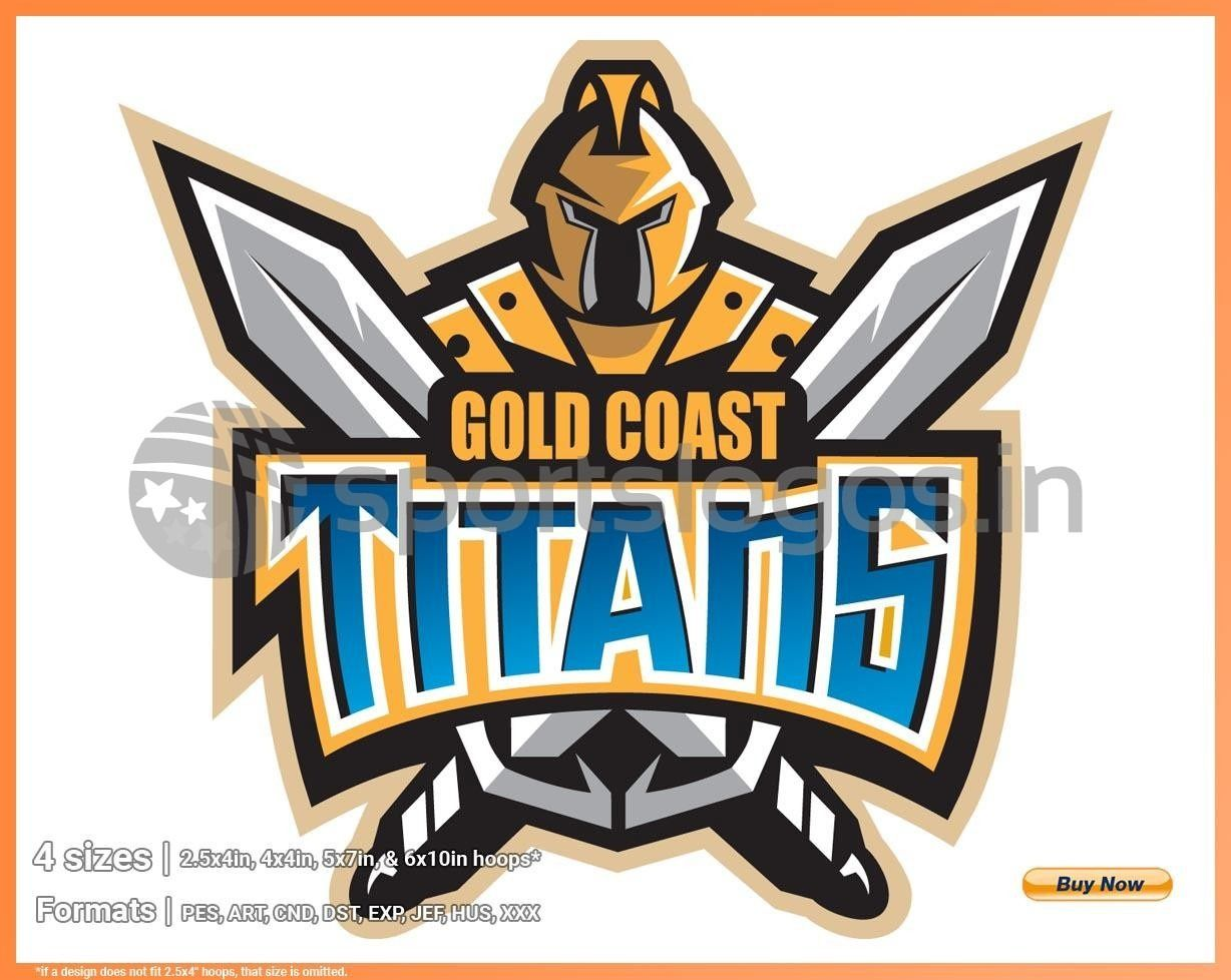 Gold Coast Titans Misc. Sports Embroidery Logo in 4