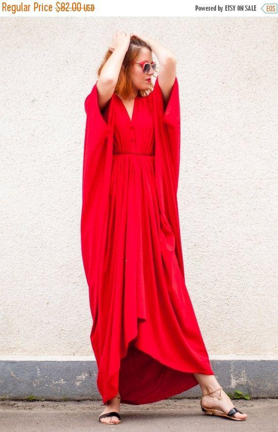 PURPLE SALE 25% OFF Red Maxi Dress / Loose Red Kaftan / https://www.etsy.com/listing/181107490/purple-sale-25-off-red-maxi-dress-loose?utm_campaign=crowdfire&utm_content=crowdfire&utm_medium=social&utm_source=pinterest