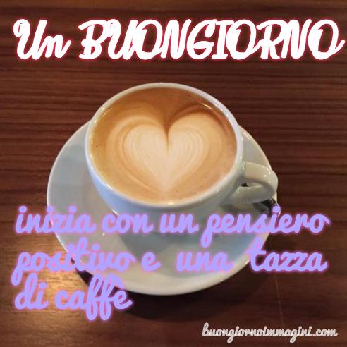 Tazza Caffè Pensiero Positivo Cuore Immagini Del