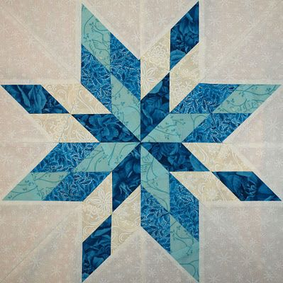 크리스마스 (눈꽃모양) Stars of the Sea. Like this pattern for Ella as a Frozen Themed quilt for her bed.
