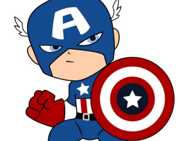 Baby Clipart Captain America – Migliori Pagine da Colorare