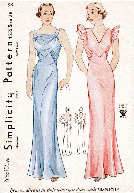 1930s 30s modello vintage lingerie sera di LadyMarloweStudios