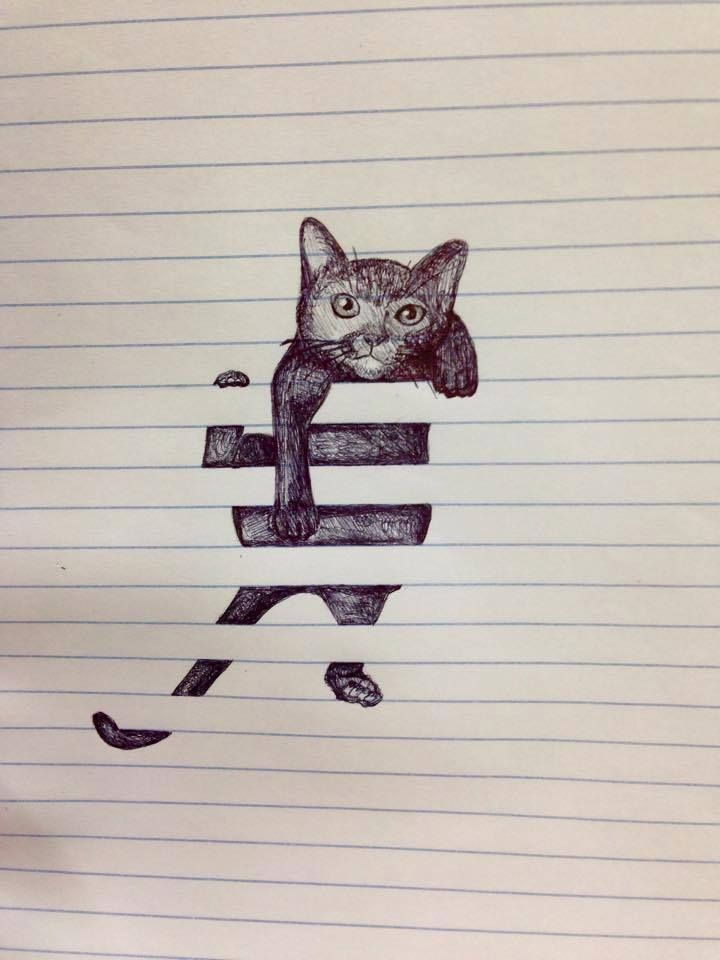 Spi0n Timeline Photos Facebook Art Cat Art Cool Drawings