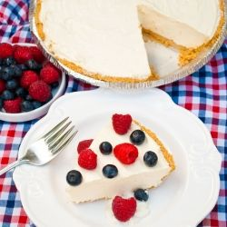 Raspberry Cheesecake Yogurt Pie - This is the easiest, most delicious pie you will ever make! #foodgawker