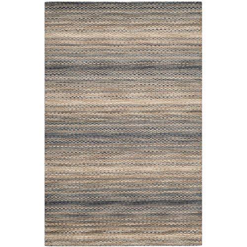 Safavieh Himalaya Collection HIM729A Handmade Grey Wool Area Rug, 4 feet by 6 feet (4′ x 6′)