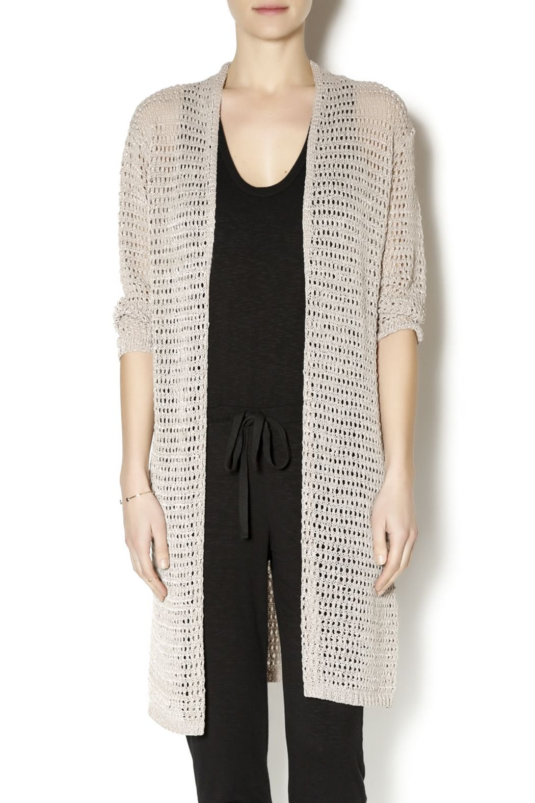 Ethyl open weave long cardigan open weave and long cardigan ethyl open weave long cardigan open weavelong cardigancocoaknitting patternscardigans bankloansurffo Choice Image