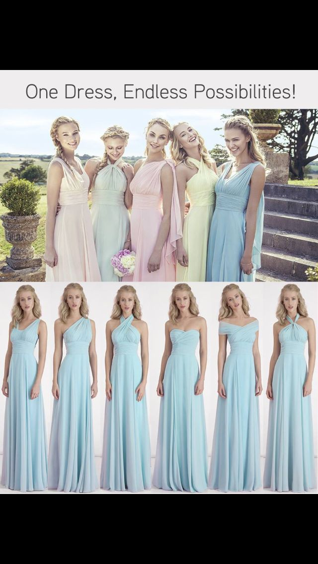bridesmaids dresses with changeable