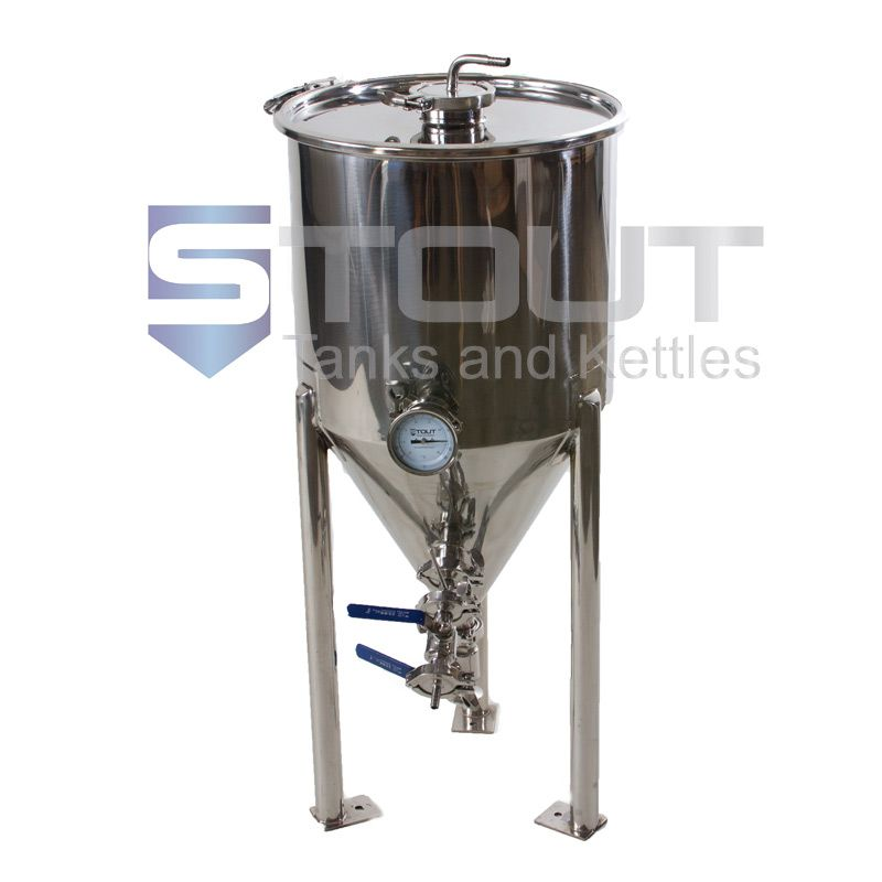 Cf15tw Ra 3tclid 202 14 5 Gal Conical Fermenter With 3 Tri Clamp Port In Lid Home Brewing Equipment Stout Tanks Home Brewing
