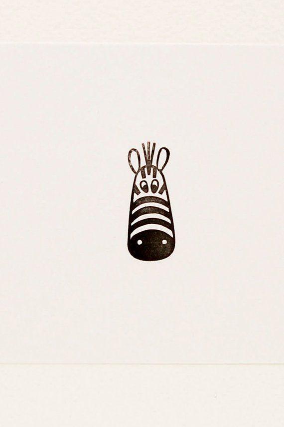 Zebra stamp, zebra birthday gift, happy zebra stamp, minimalist stamp, peekaboo stamp, handmade stamps, peekaboo zebra stamp #stampshandmade