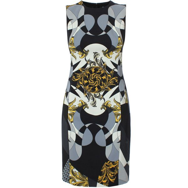 With Mastercard Sale Online Baroque print dress - Black Versace Clearance Websites With Paypal Cheap Price Clearance Cheapest 7BUSL1gJW