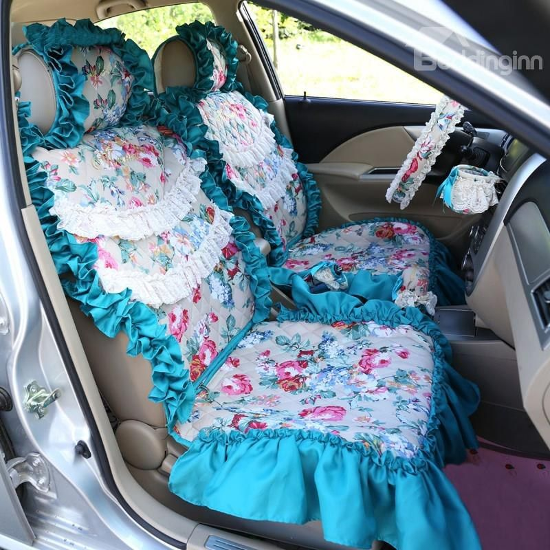 Flower Pattern Car Seat Cover