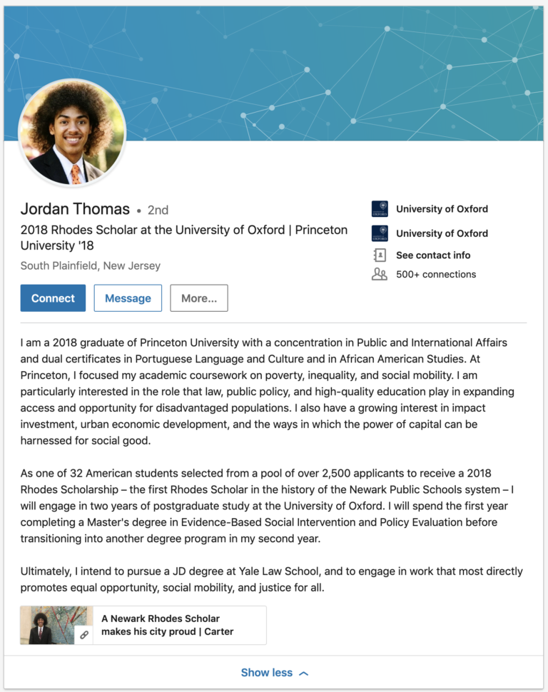 5 Stunningly Good Graduate Student Linkedin Summary Examples Linkedin Summary Student Soci Linkedin Summary Examples Linkedin Summary Job Interview Advice