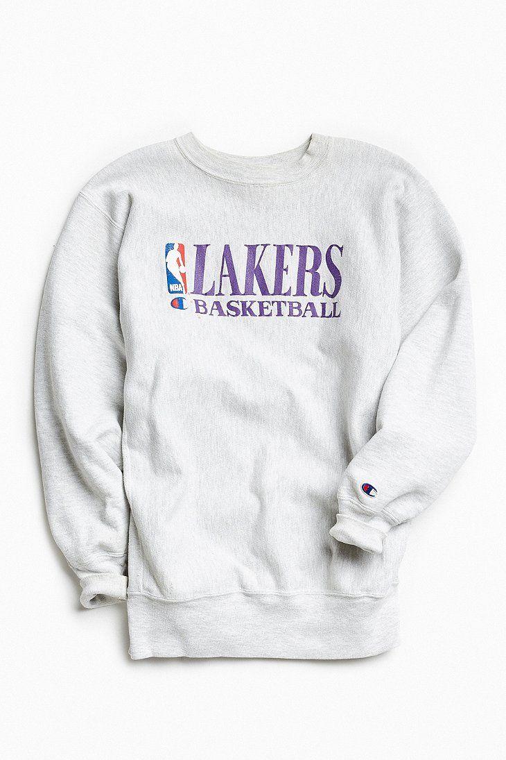 Vintage Champion Nba Los Angeles Lakers Crew Neck Sweatshirt Crew Neck Sweatshirt Sweatshirts Champion Hoodie