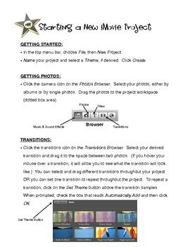 FREE:  iMovie QuickSheet {A Little Cheat-Sheet for Apple's iMovie Program}  Learn how to make a movie, add titles, insert music, and burn to a DVD.  (9 pages)