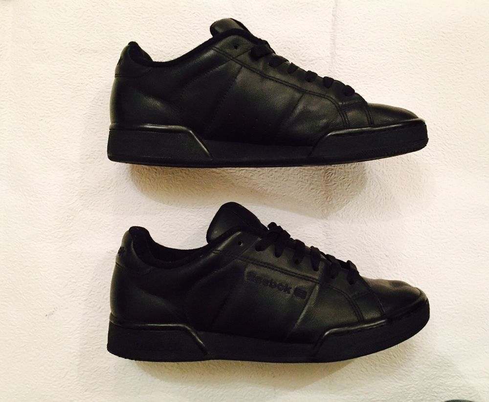 930f956e90110 Details about Men s Reebok Classic All Black Workout Trainers Size 7 ...