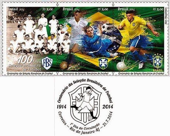 AFNB - Boletim Virtual: filatelia - centenário da seleção brasileira de futebol