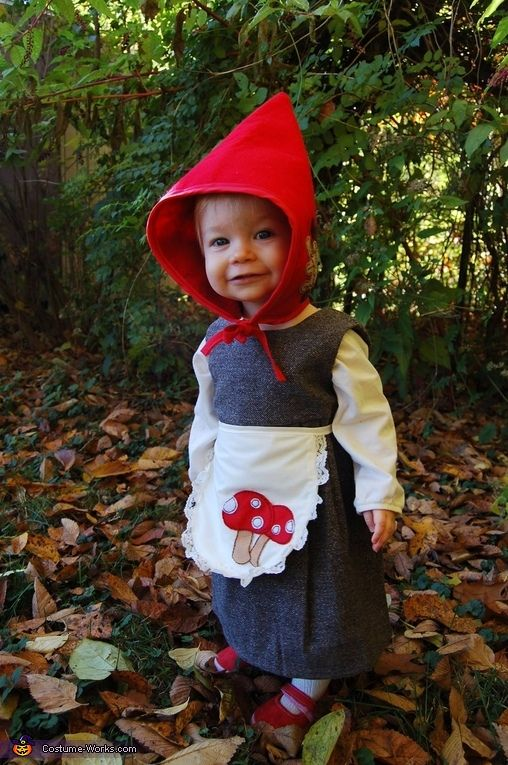 Baby Girl Gnome - Halloween Costume Contest at Costume-Works.com #gnomecostume