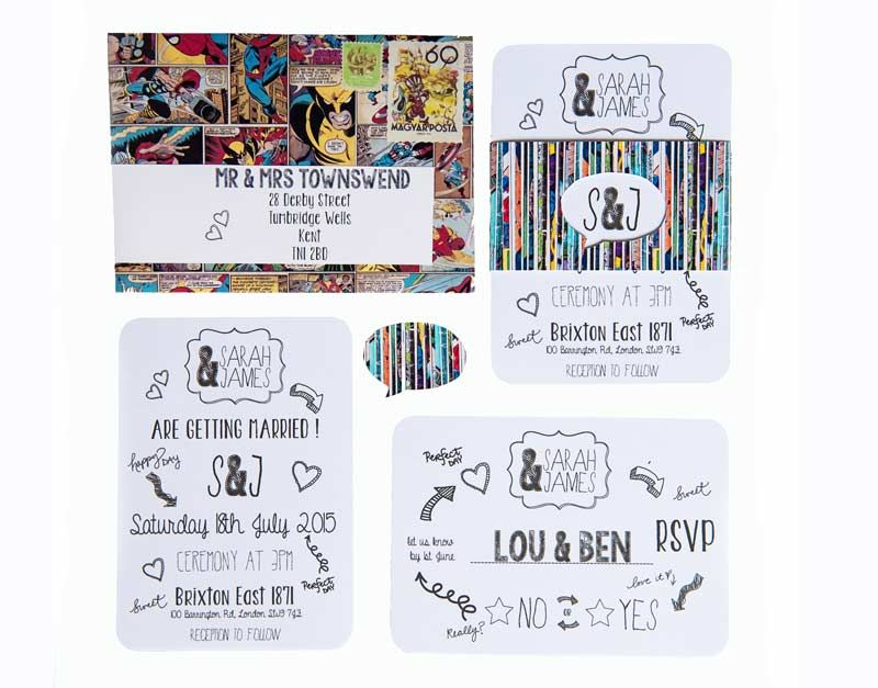 superhero themed weddings ideas for a comic book obsessed couple - Superhero Wedding Invitations