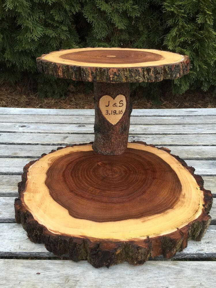 Details about elm wood personalized 12 rustic cake