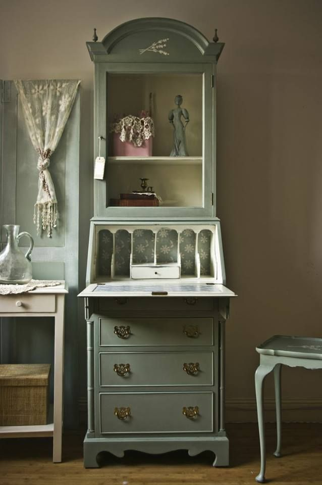Sage Green Vintage Shabby Chic Paint Furniture Painted Furniture