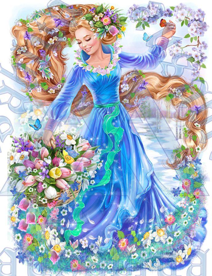 Королева цветов картинка для детей
