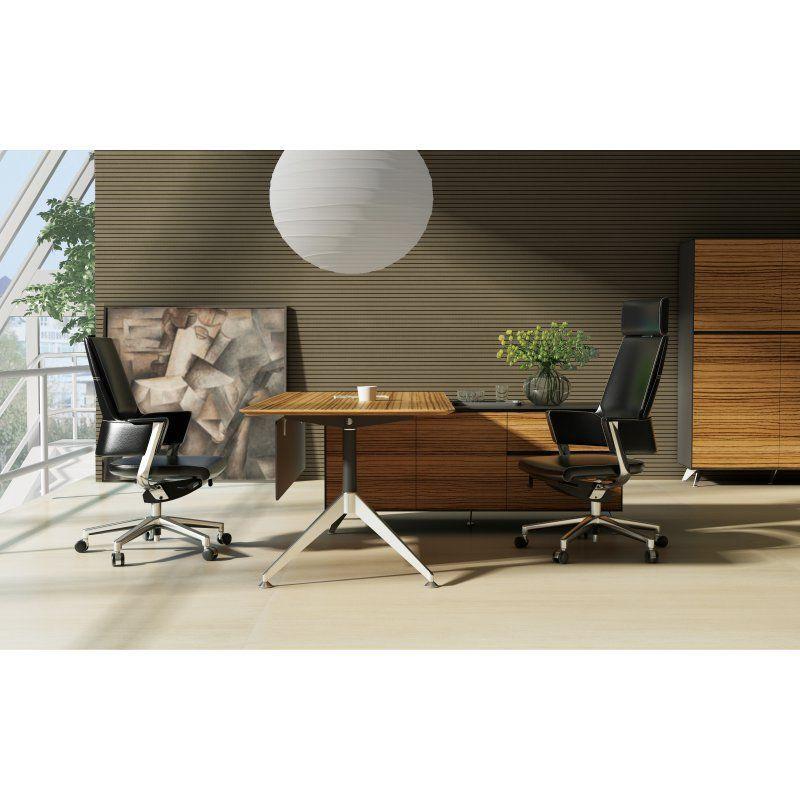Unique Furniture 400 Collection Executive Desk With Return