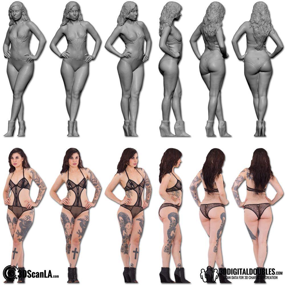 Free naked 3d women to pose