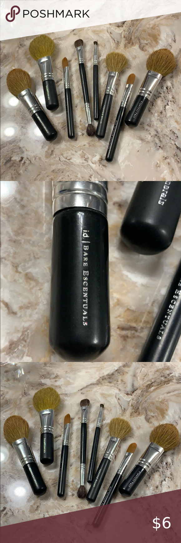 My Posh Picks Bare Minerals makeup brush , 8 piece set