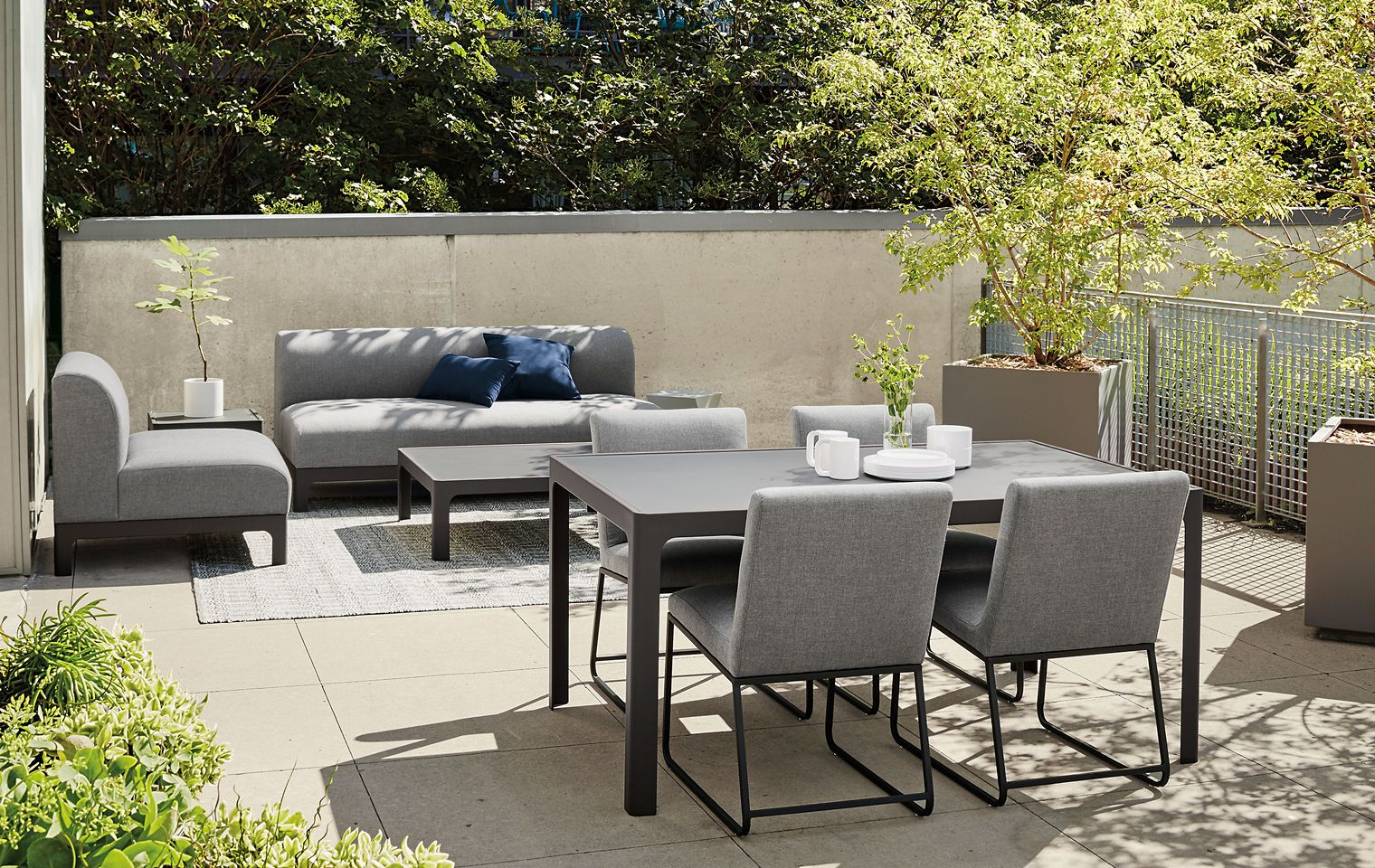 Outdoor - Room & Board -- Crescent Sectionals + Carmel ... on Living Spaces Outdoor Dining id=33988