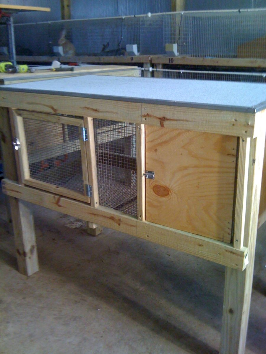 flemish rabbit cages 2x4 with built in winter box i had one
