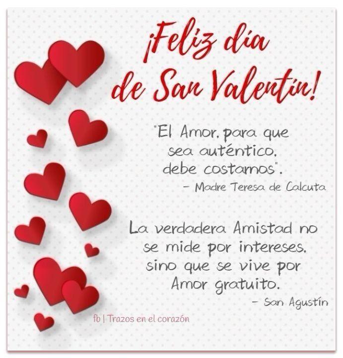Feliz Día De San Valentín El Amor Para Que Sea Auténtico Debe