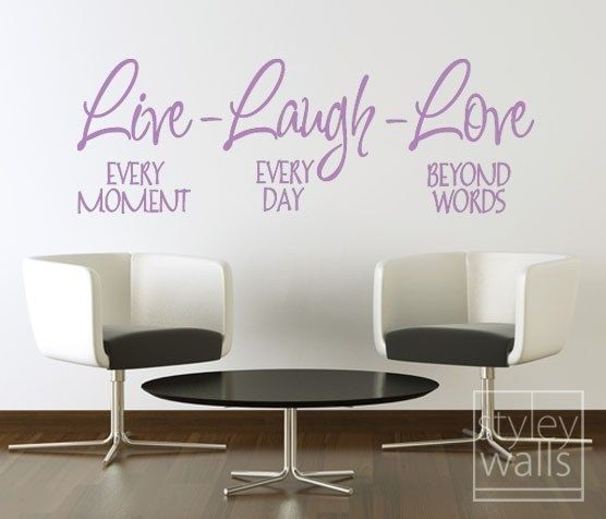 Live Laugh Love Vinyl lettering Wall Decal Vinyl Lettering | Etsy