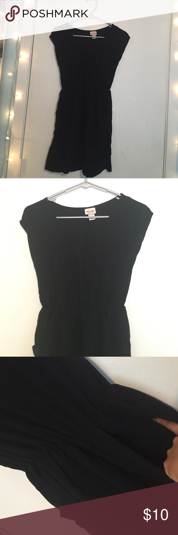 Light Weight Black Dress With Pockets | Light weight | black dress | pockets | mossimo | above the knee-mid thigh | Mossimo Supply Co Dresses Midi