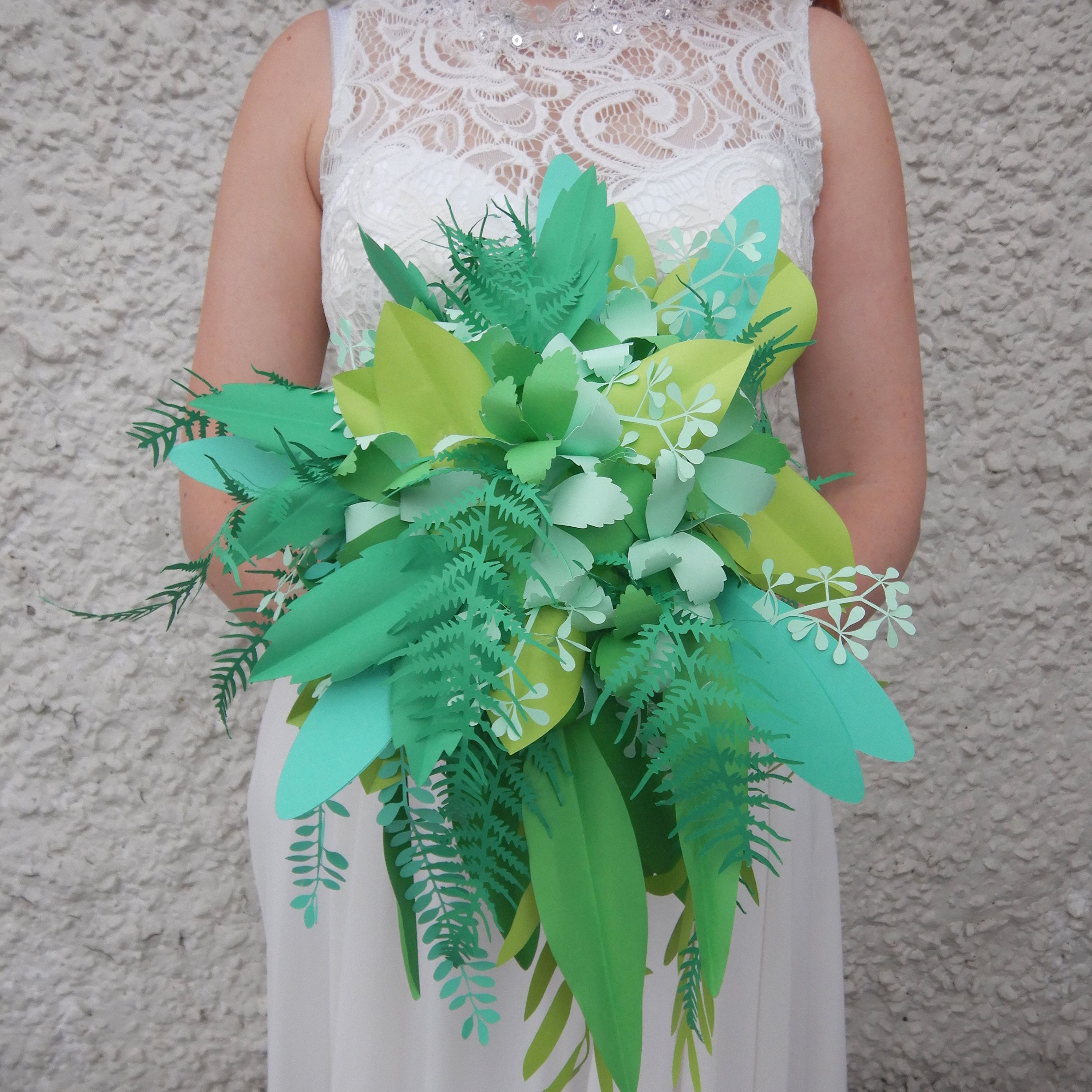 Paper Foliage Bouquet Artificial Paper Wedding Leaves Anniversary