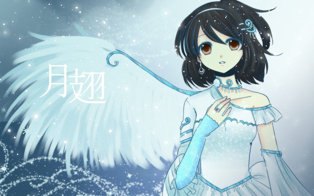 anime girl bir girl with bird wings stuff to do