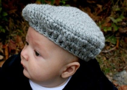 free baby beret crochet pattern   Baby crochet hats and sets ...
