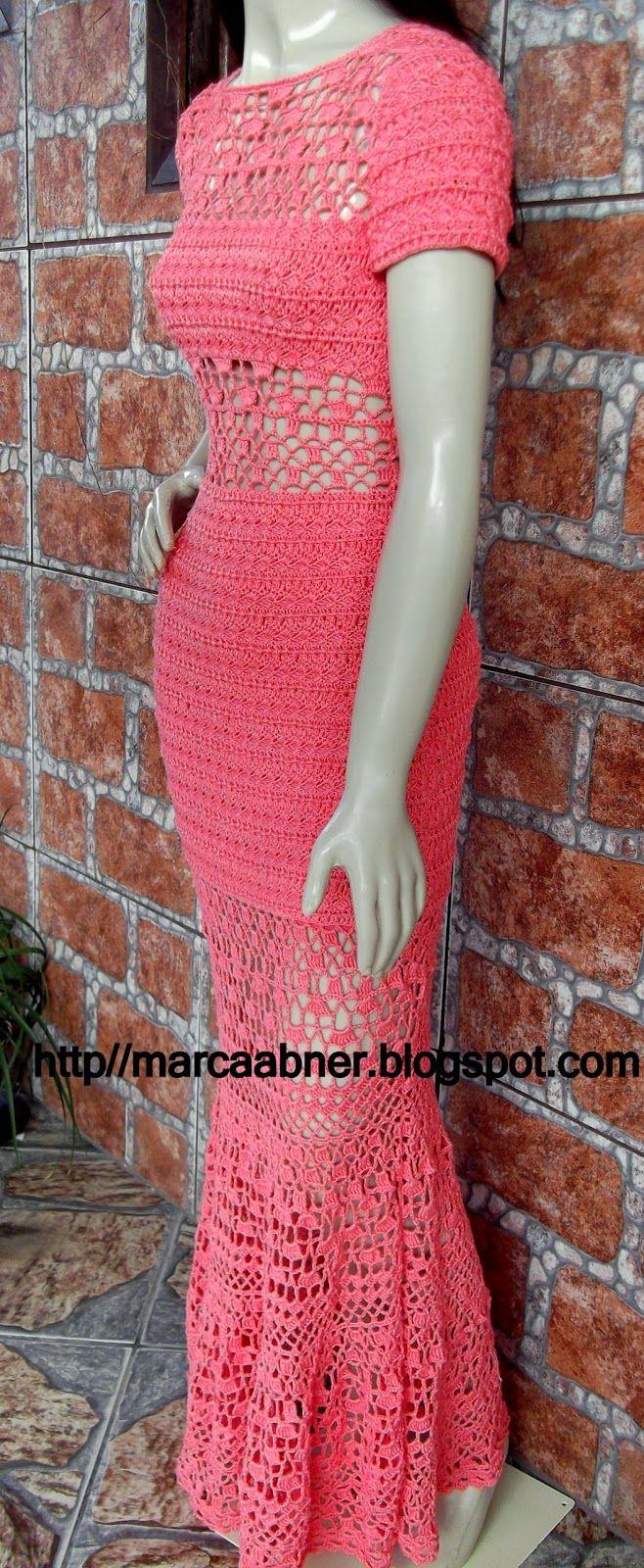 Marcinha crochê: Vestido de crochê taila   vestidos de novia al ...