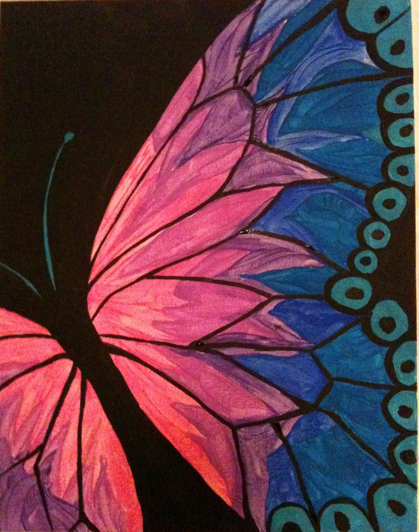 Butterfly acrylic l sceel easy acrylic painting ideas