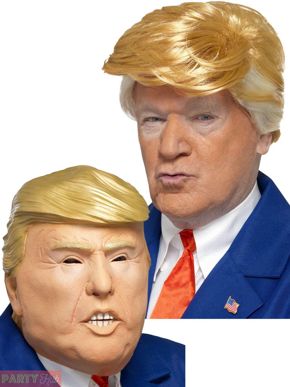 Adults President Donald Trump Wig Mask Fancy Dress Accessory Mens Halloween 4ca90fc1b