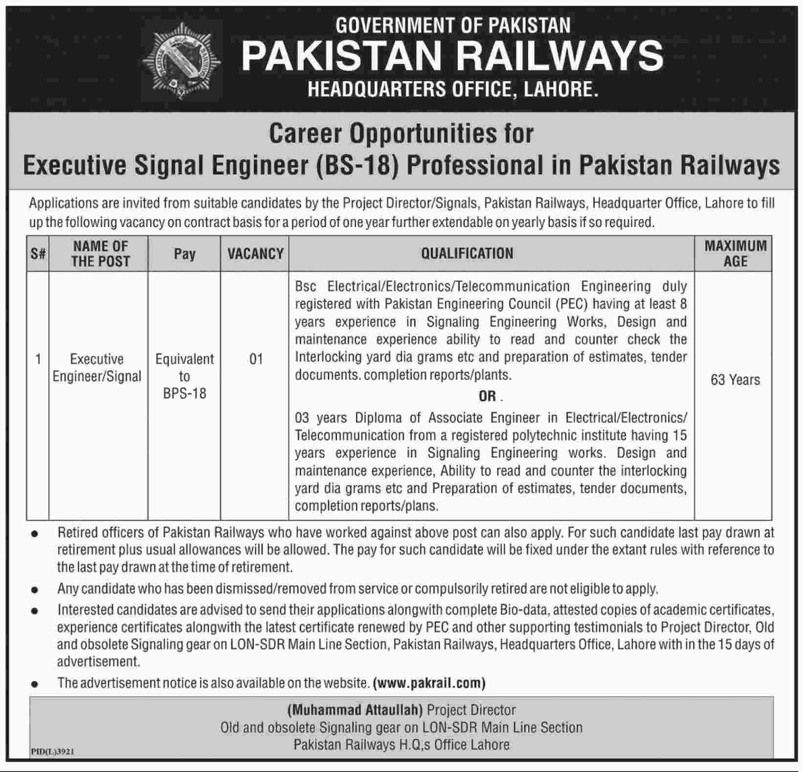 Jobs In Pakistan Railways Government Of Pakistan  April