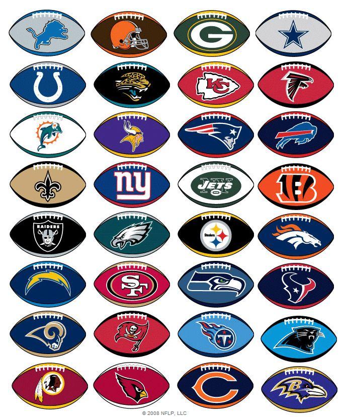 Nfl Logo Stickers Officially Licensed Football Decal All 32 Teams All Nfl Teams Nfl Football Teams Football Team Logos