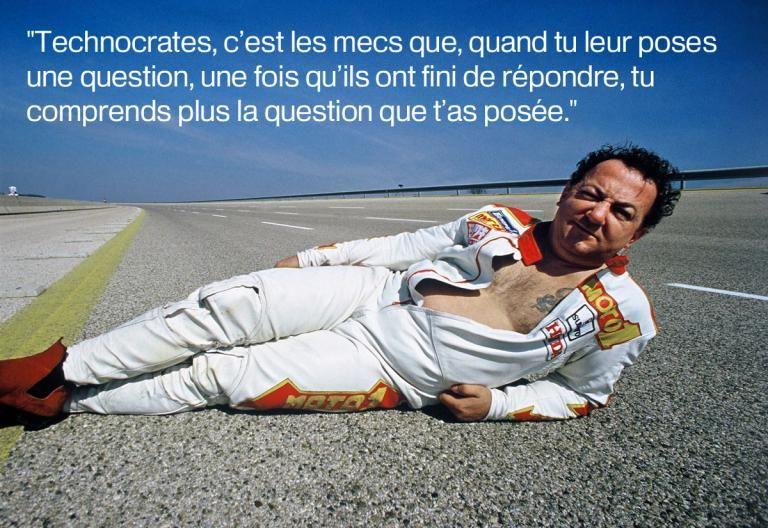 Le 29 septembre1985 au circuit de Nardon (Italie).   FOULON/SIPA / SIPA