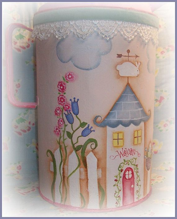 Garden Gate Cottage Painted by Martha by PaintingWithFriends