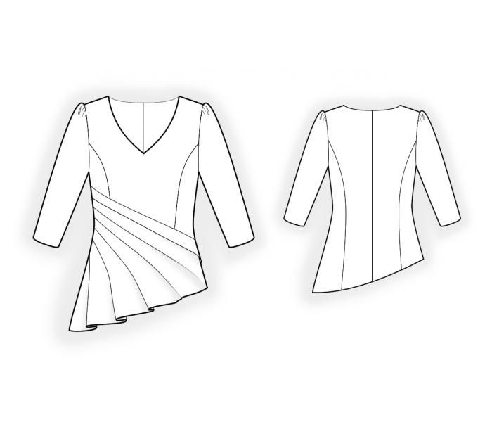 Blouse With Pleats Sewing Pattern 4419 Made To Measure Sewing