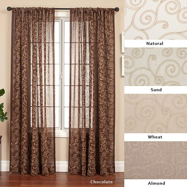 Softline Nirvano 84 Inch Rod Pocket Curtain Panel 55 X 84 With