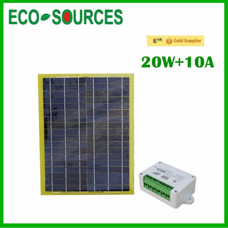 Portable Car Power Solar Panel W 10a Controller Charger 12v 20 Watts Solar Panels Suv Trucks Solar