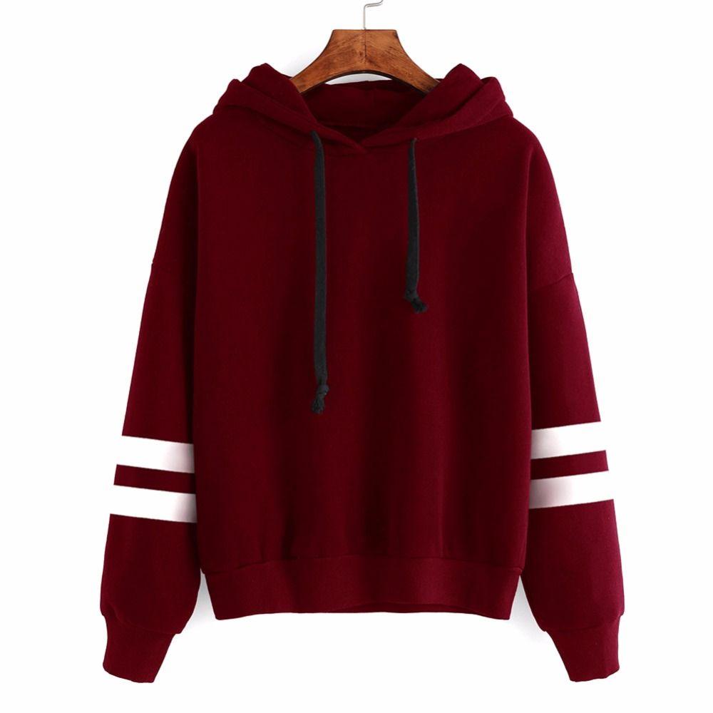 Women Long Sleeve Hooded Pullover Coat Loose Hoodie Jumper Sweatshirt Casual Top